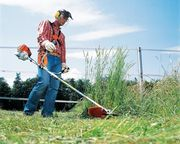 Покос травы. Скашивание травы,  кустарников.